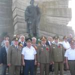 Delegatia Filialei aradene a ANCMRR la Monumentul de la    Paulis-sept 2015