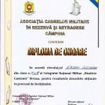diploma Diaconu Iustinian